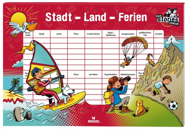 Stadt-Land-Ferien - black stories Junior