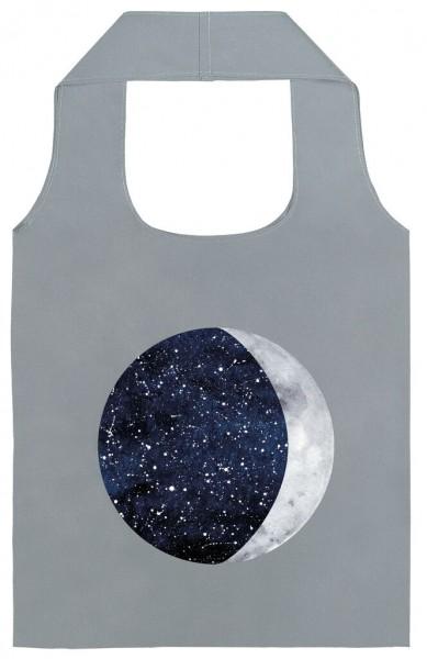 moses. Shopper Mond und Sterne reflektierend, faltbare Einkaufstasche