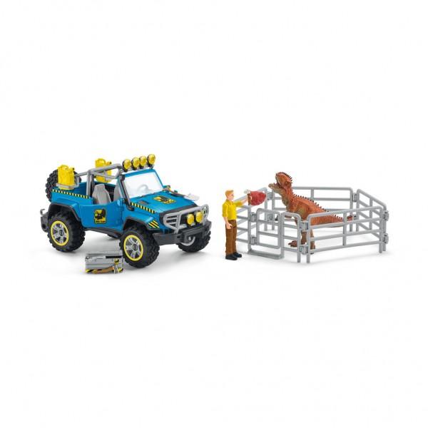 Schleich 41464 Geländewagen mit Dino-Außenposten