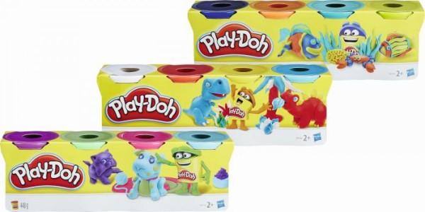Play-Doh 4er Pack Knete - weiß/rot/gelb/türkis