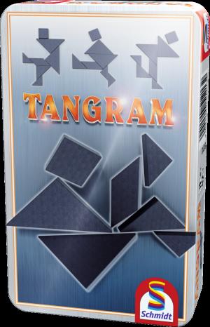 Tangram, Bring-Mich-Mit-Spiel in Metalldose