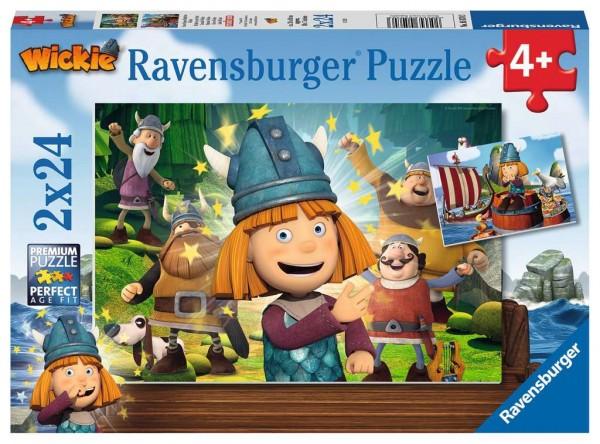 Puzzle Unser kluges Köpfchen Wickie (2x24 Teile)