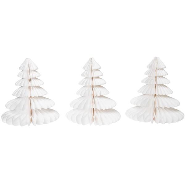 Wabenpapier Tannenbäume (3 Stück)