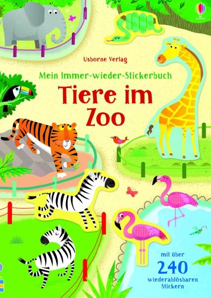 Holly Bathie, Mein Immer-wieder-Stickerbuch: Tiere im Zoo