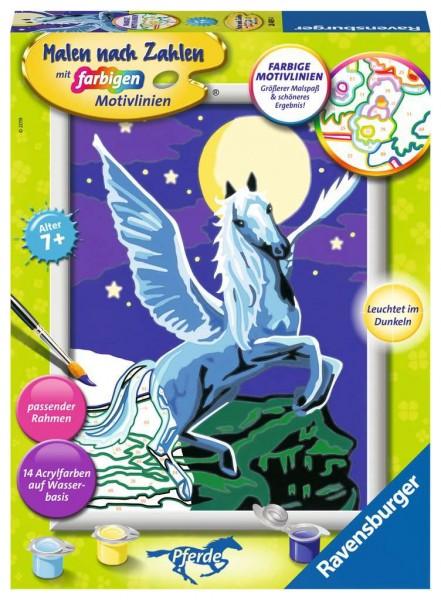 Malen nach Zahlen - Pegasus im Mondschein