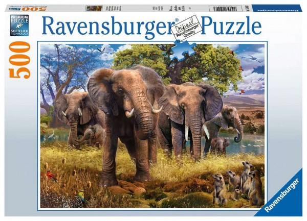 Puzzle Elefantenfamilie