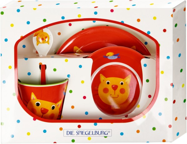 Freche Rasselbande Katze Melamin-Geschenkset