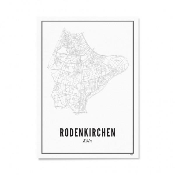Poster KÖLN - RODENKIRCHEN 30 x 40 cm