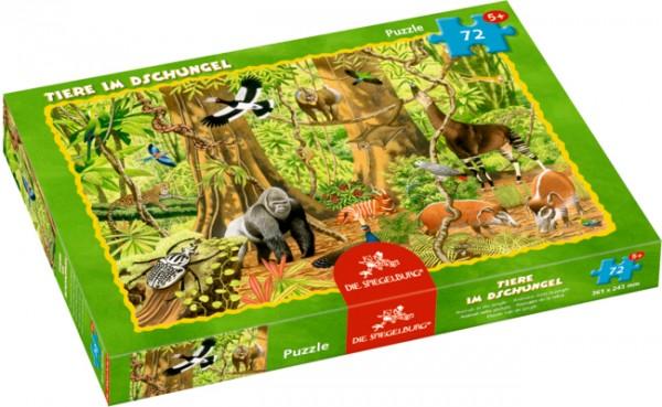 Boxpuzzle Tiere im Dschungel (72 Teile)