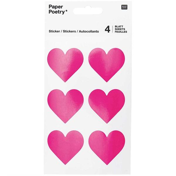 Sticker Herzen pink