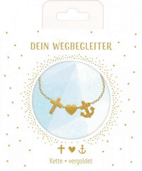 Kette Glaube-Liebe-Hoffnung (vergoldet)