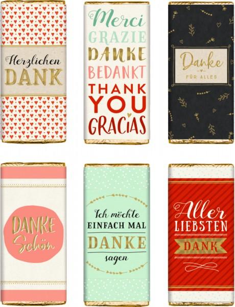 Schokolade zum Dankesagen Viel Glück 30 g
