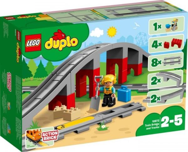 LEGO® DUPLO® 10872 Eisenbahnbrücke und Schienen, 26 Teile