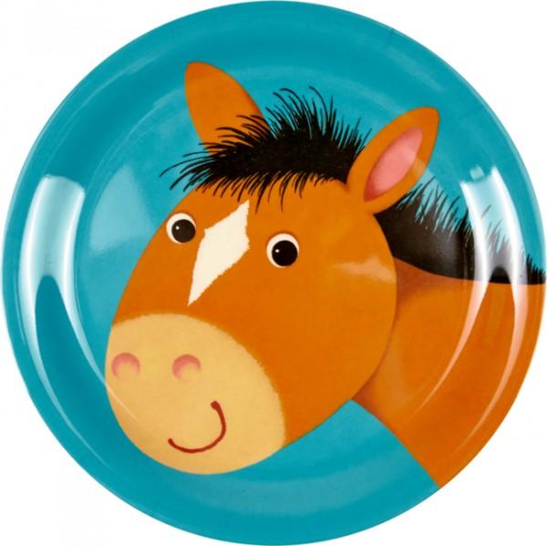 Freche Rasselbande Pferd Melamin-Teller