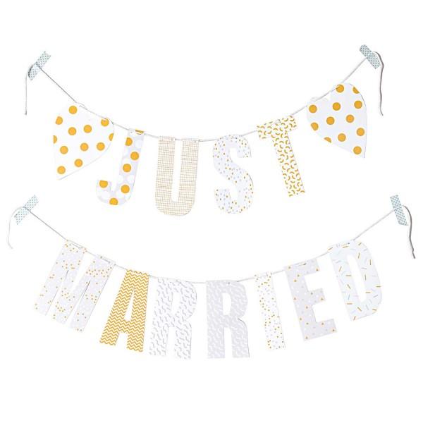 PAPER POETRY GIRLANDE JUST MARRIED