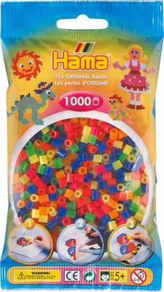 Hama® Bügelperlen Midi - 5mm Neon Mix 1000 Perlen