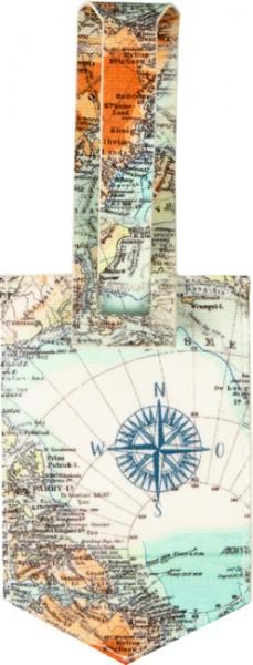 Kofferanhänger Weltkarte Reisezeit