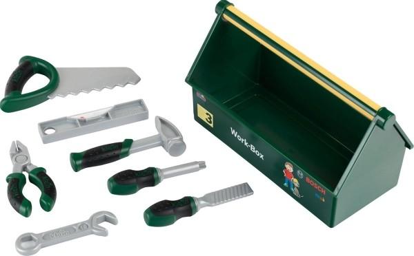 Bosch Werkzeugbox - 7 - teiliges Werkzeugset - Stabile Box mit praktischem Tragegriff - Passend zu d