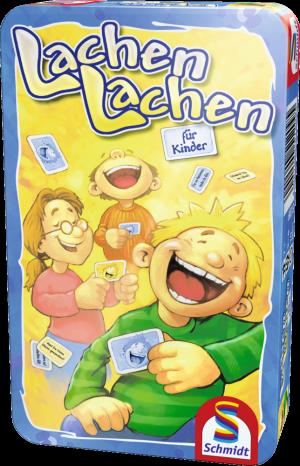 Lachen Lachen für Kinder, Bring-Mich-Mit-Spiel in Metalldose