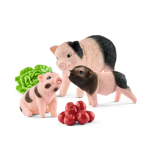 Schleich Farm World Mini-Schwein Mutter und Ferkel