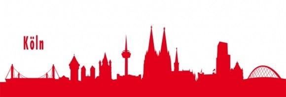 Autoaufkleber Köln rot