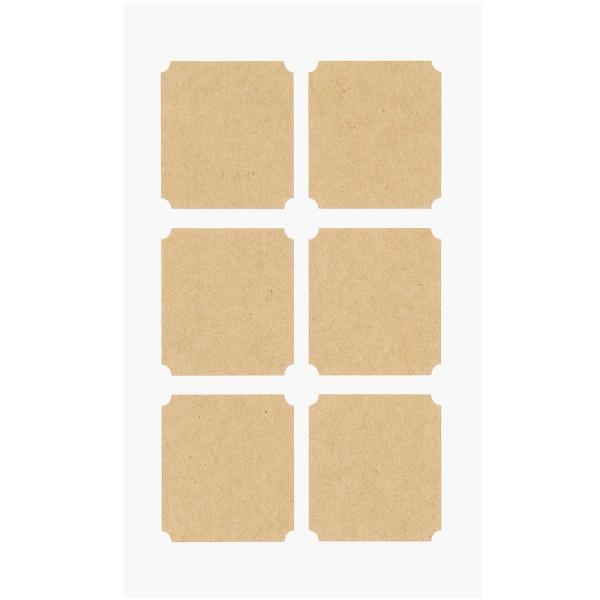 Rico Design Kraftpapiersticker eckige Etiketten