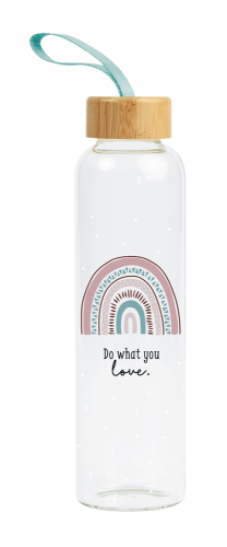 Glas-Trinkflasche Do what you love