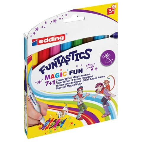 Faserschreiber 7+1 sortiert EDDING FuntasticsMagic