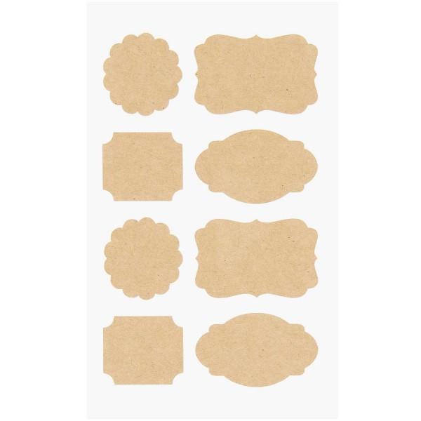 Rico Design Kraftpapiersticker Etiketten