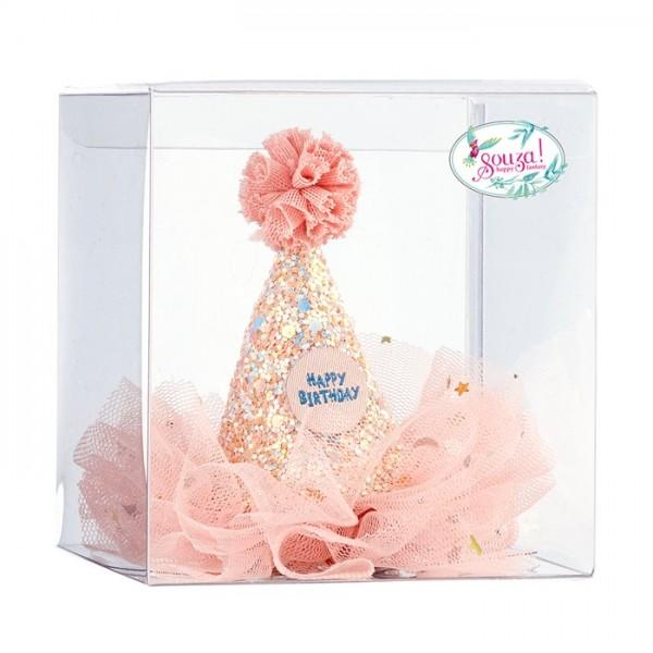 Geburtstagshut auf Clip in Geschenkbox