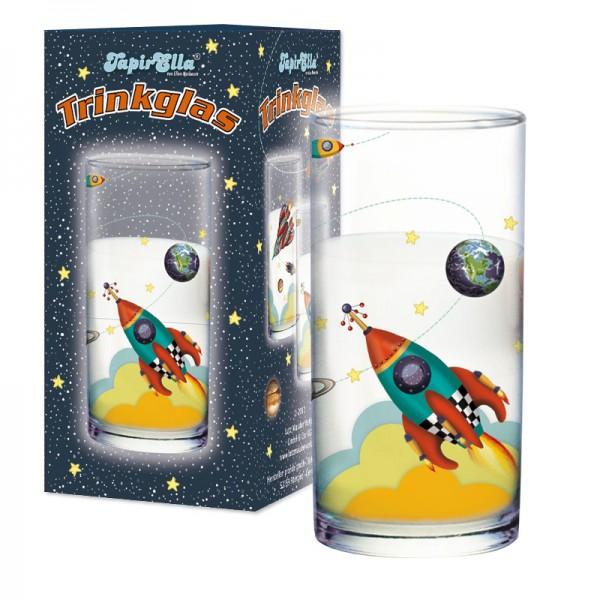 Trinkglas Rakete
