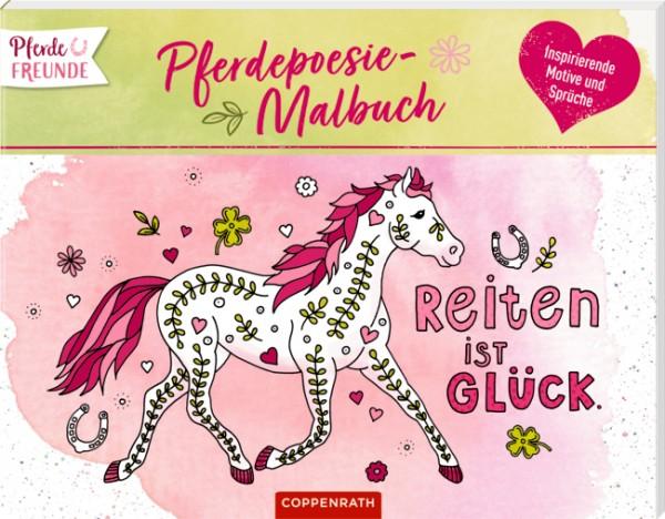 Pferdefreunde Pferdepoesie Malbuch