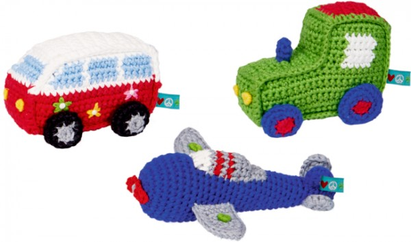 Minirassel (Bus, Flugzeug, Traktor) BabyGlück