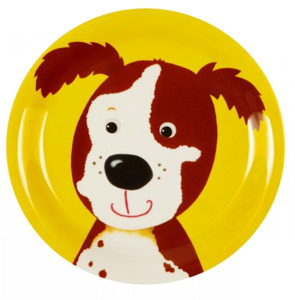Freche Rasselbande Hund Melamin-Teller