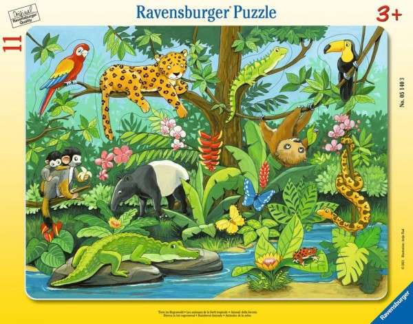 Tiere im Regenwald (11 Teile)