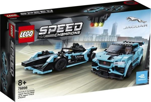 LEGO® Speed Champions 76898 Formula E Panasonic Jaguar Racing GEN2 car & Jagua