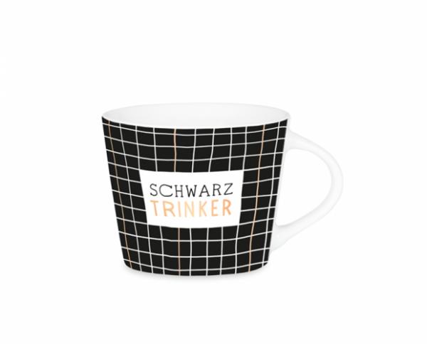 Espresso-Tasse Schreibkram Manufaktur - Schwarz Trinker