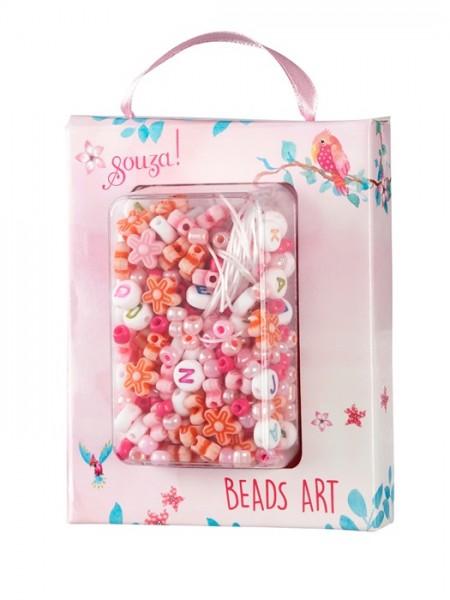 Perlen Bastelset ABC - pink