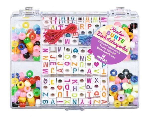Kunterbunte Buchstaben-Perlen