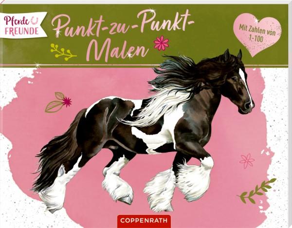 Pferdefreunde Punkt zu Punkt Malen