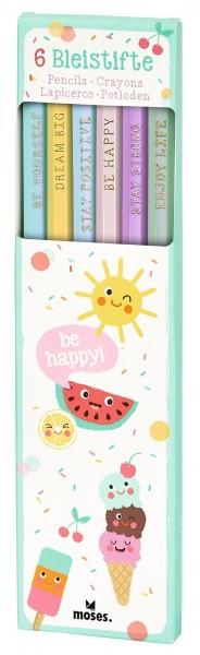 Be happy Bleistift Set