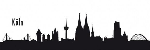 Autoaufkleber Köln schwarz