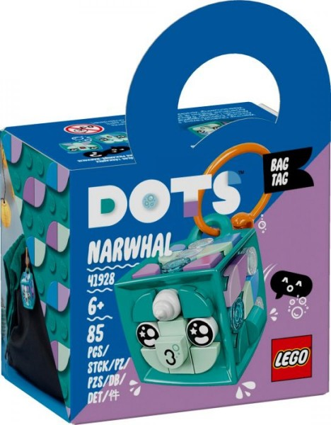 LEGO® DOTS 41928 Taschenanhänger Narwal