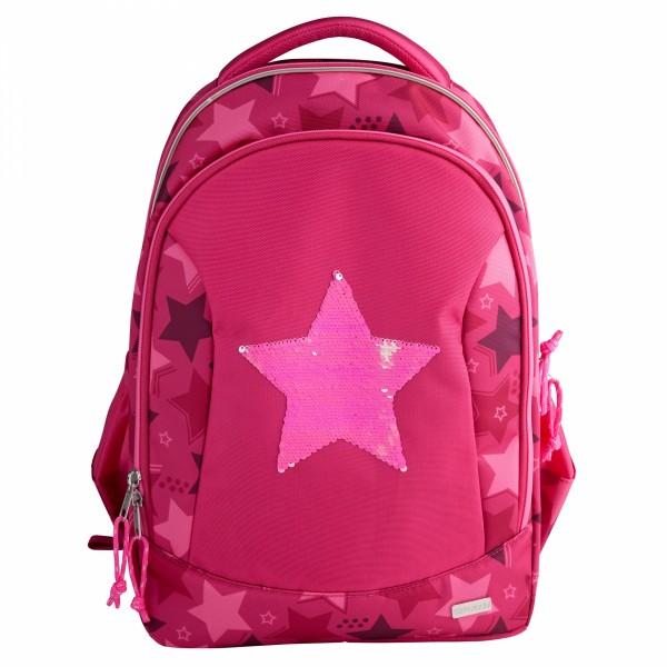 TOPModel Schulrucksack Streichpaillette Stern pink